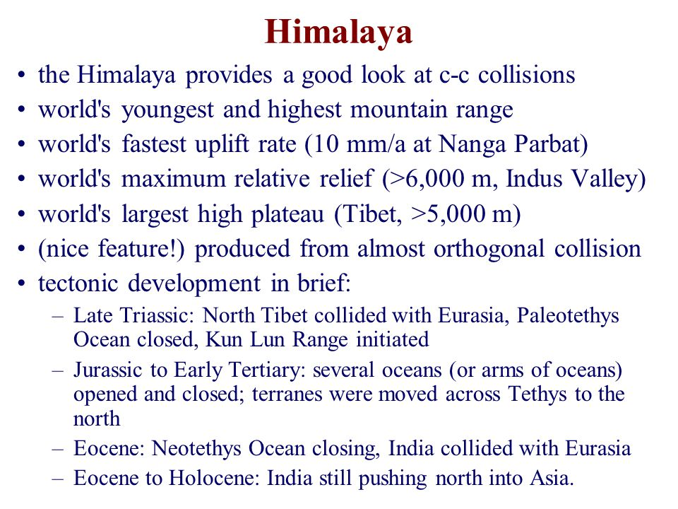 Himalaya the Himalaya provides a good look at c-c collisions