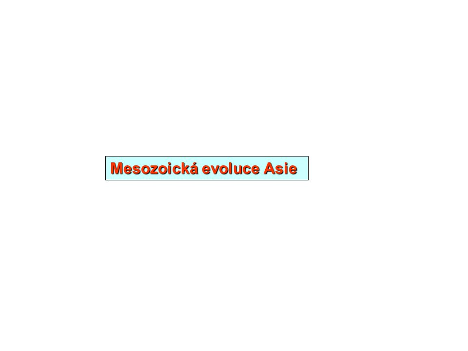 Mesozoická evoluce Asie