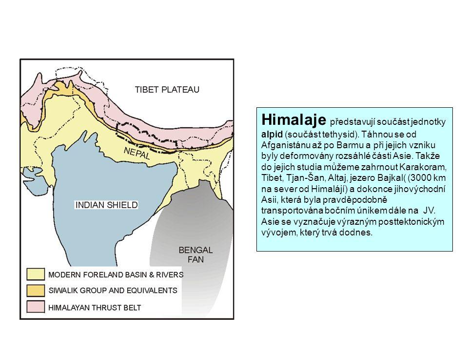 Himalaje představují součást jednotky alpid (součást tethysid)