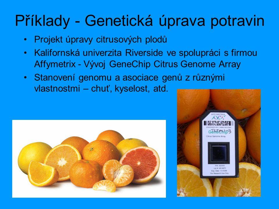 Příklady - Genetická úprava potravin