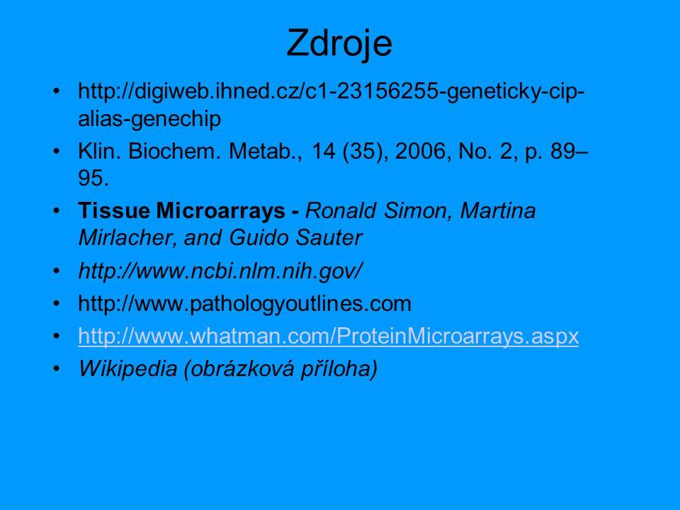 Zdroje http://digiweb.ihned.cz/c1-23156255-geneticky-cip-alias-genechip. Klin. Biochem. Metab., 14 (35), 2006, No. 2, p. 89–95.