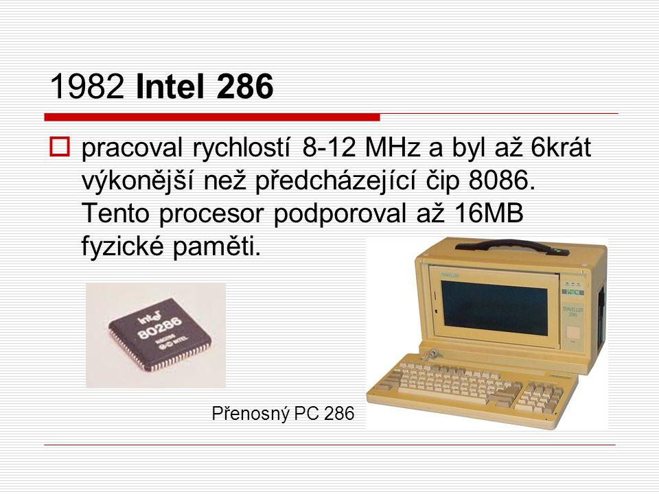 1982 Intel 286