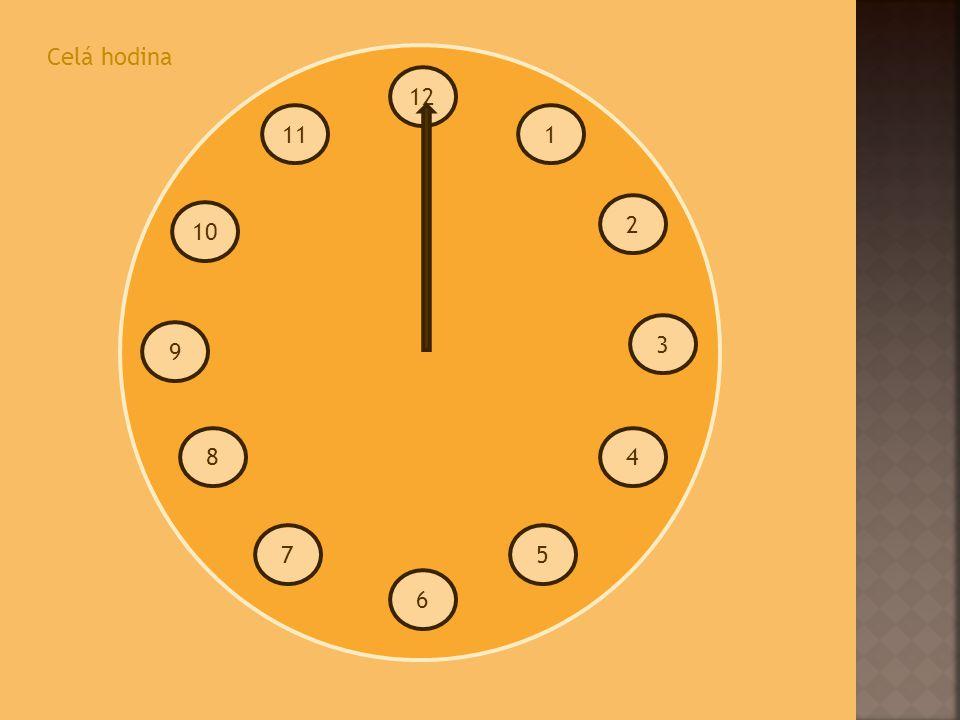 Celá hodina 12 11 1 2 10 3 9 8 4 7 5 6