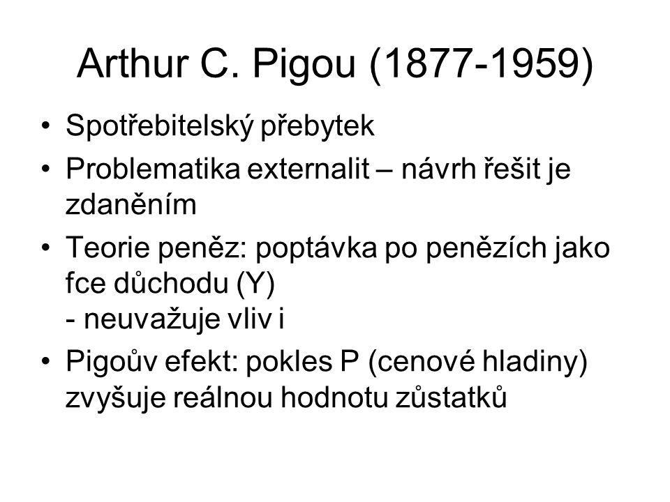 Arthur C. Pigou (1877-1959) Spotřebitelský přebytek