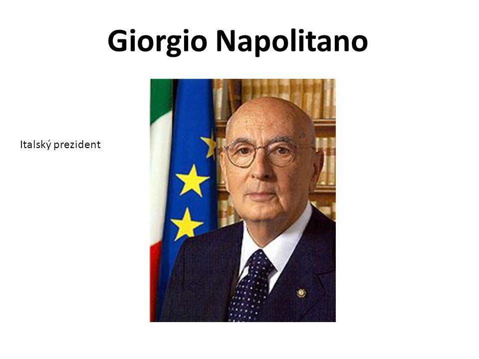 Giorgio Napolitano Italský prezident