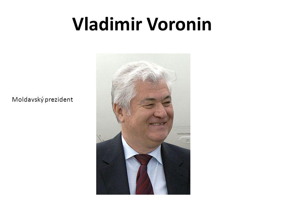 Vladimir Voronin Moldavský prezident