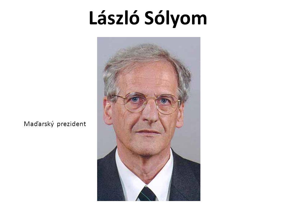 László Sólyom Maďarský prezident