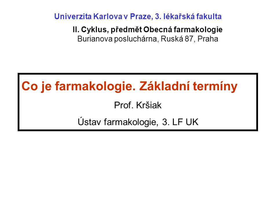 II. Cyklus, předmět Obecná farmakologie