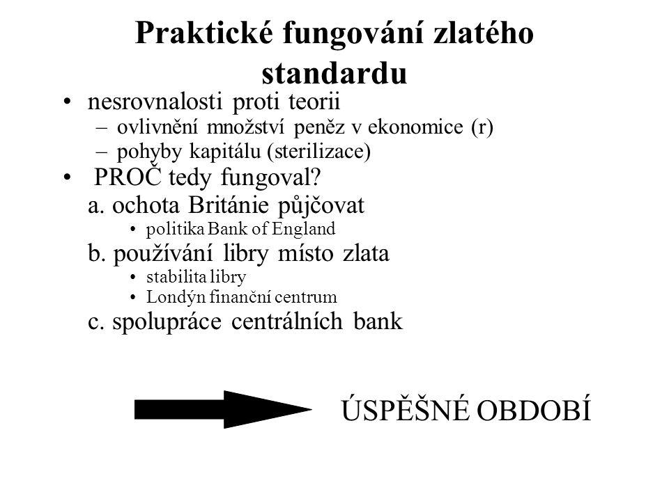 Praktické fungování zlatého standardu