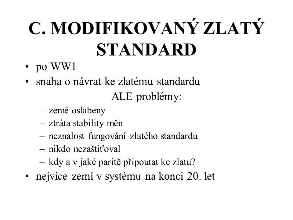 C. MODIFIKOVANÝ ZLATÝ STANDARD