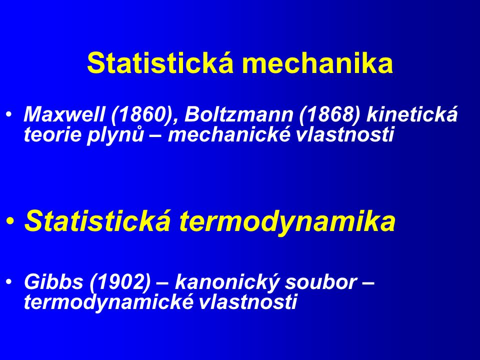 Statistická mechanika