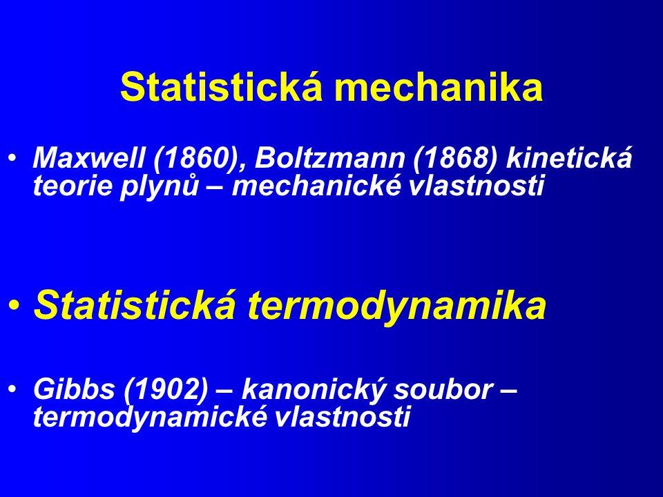 Statistická mechanika