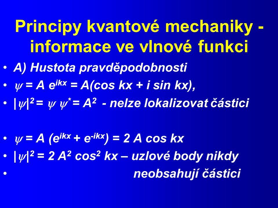 Principy kvantové mechaniky - informace ve vlnové funkci