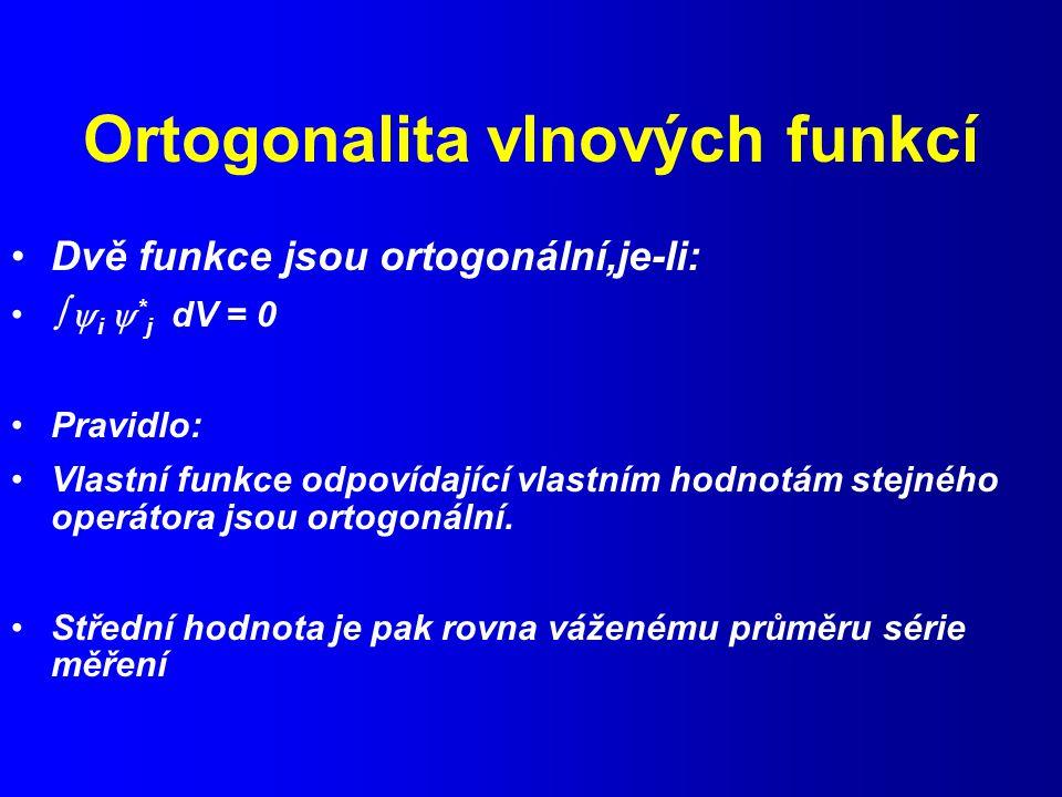 Ortogonalita vlnových funkcí
