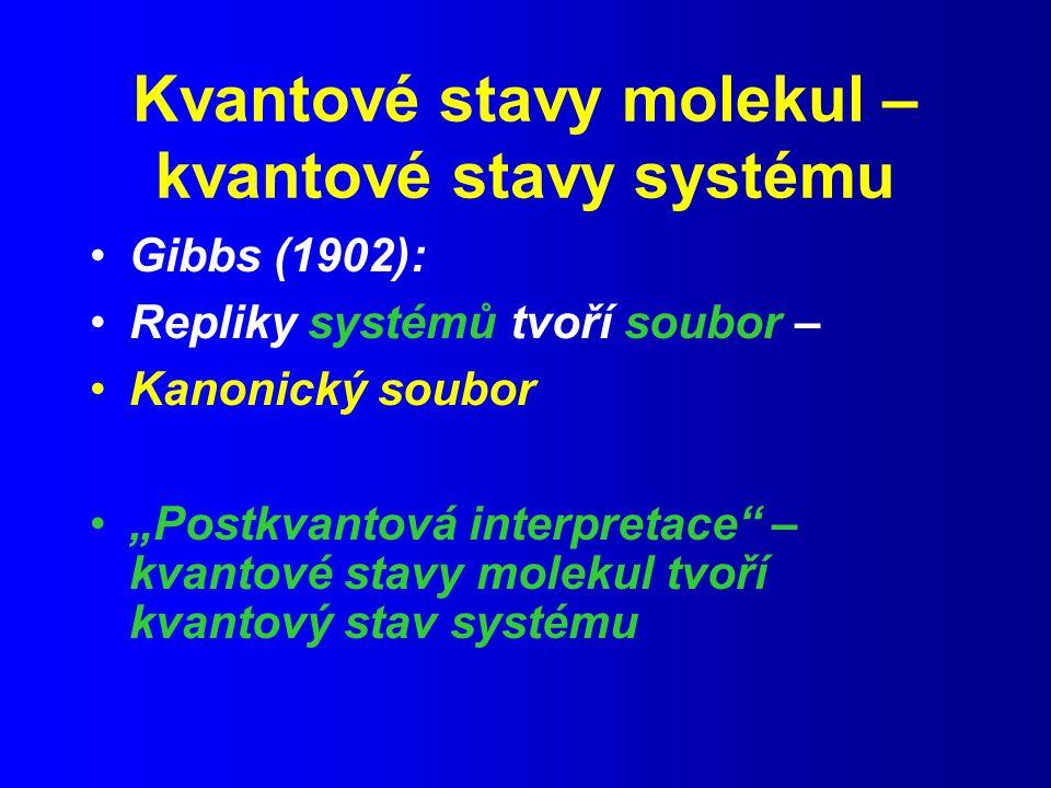 Kvantové stavy molekul – kvantové stavy systému