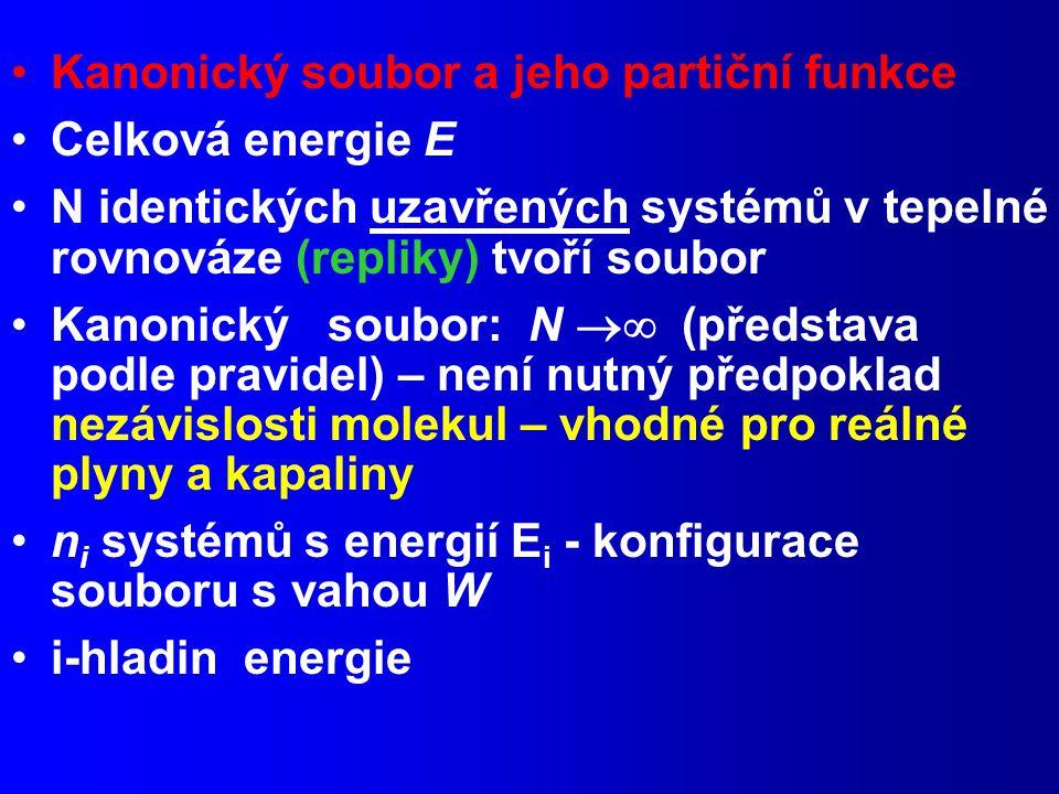 Kanonický soubor a jeho partiční funkce