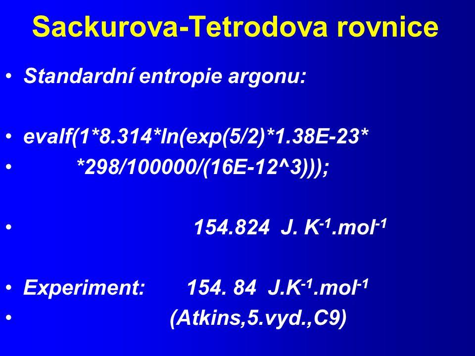 Sackurova-Tetrodova rovnice