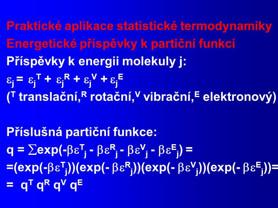 Praktické aplikace statistické termodynamiky
