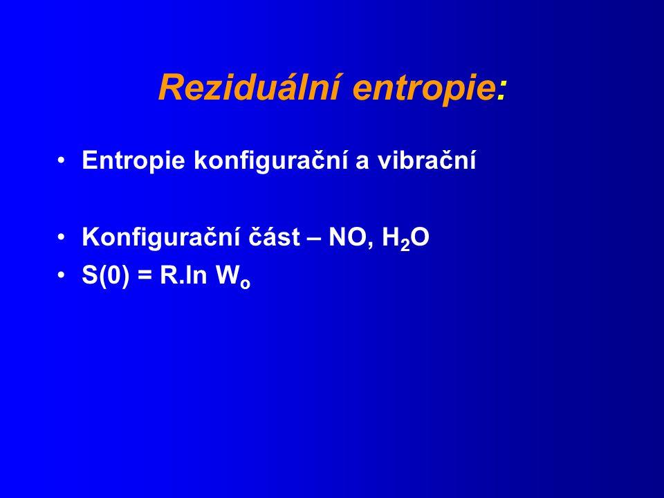 Reziduální entropie: Entropie konfigurační a vibrační