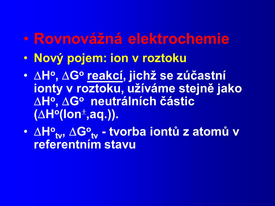 Rovnovážná elektrochemie