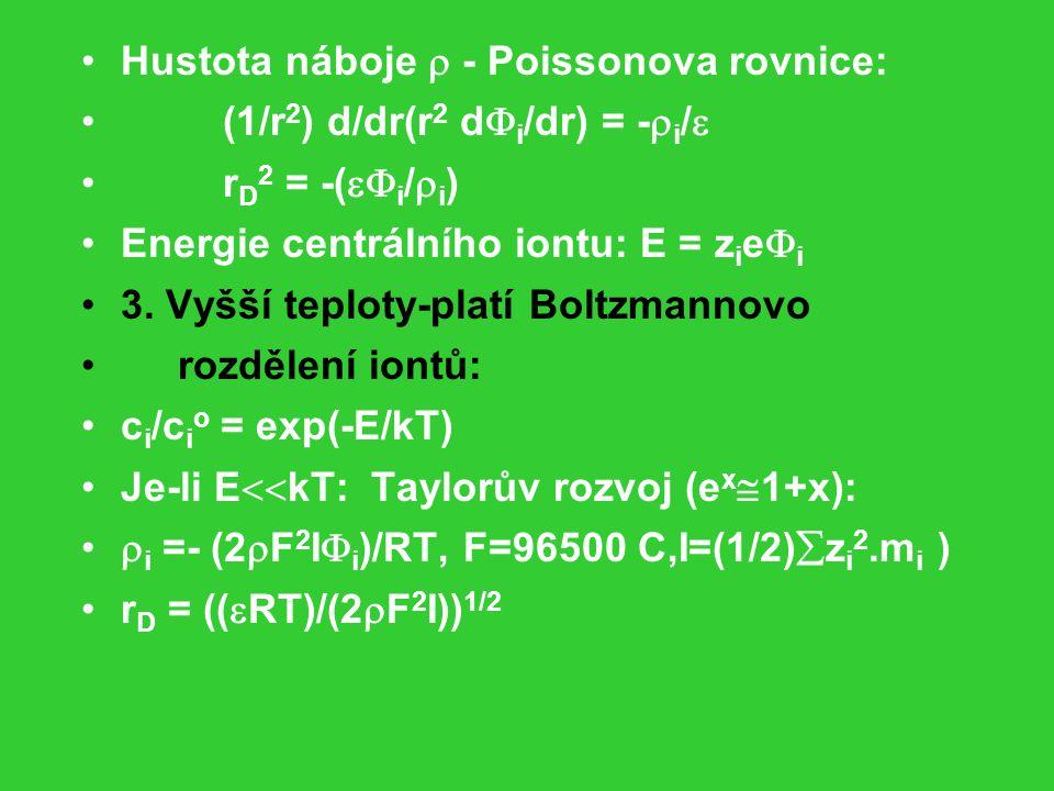 Hustota náboje  - Poissonova rovnice: