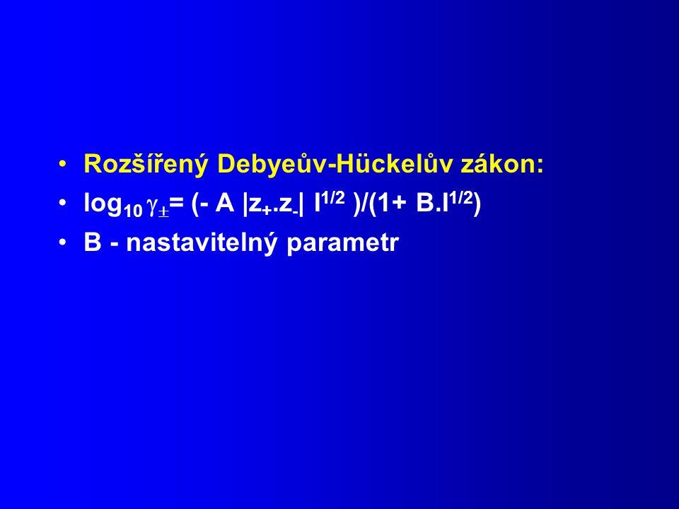 Rozšířený Debyeův-Hückelův zákon: