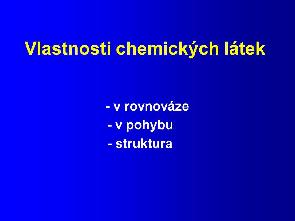 Vlastnosti chemických látek