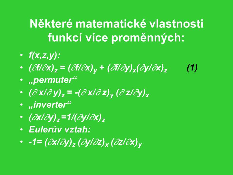 Některé matematické vlastnosti funkcí více proměnných: