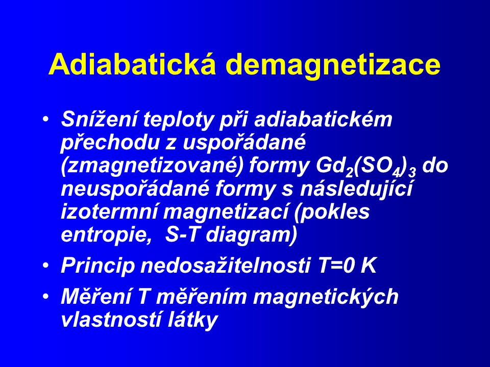 Adiabatická demagnetizace