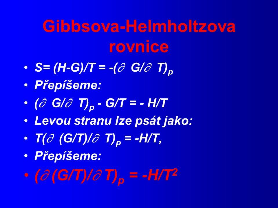 Gibbsova-Helmholtzova rovnice