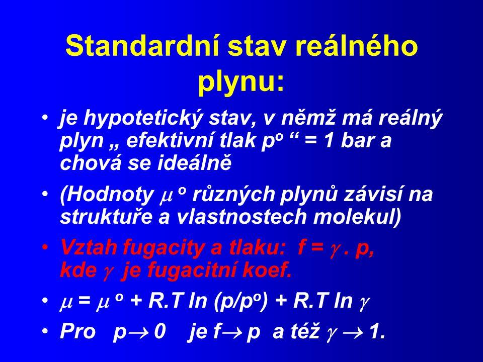 Standardní stav reálného plynu: