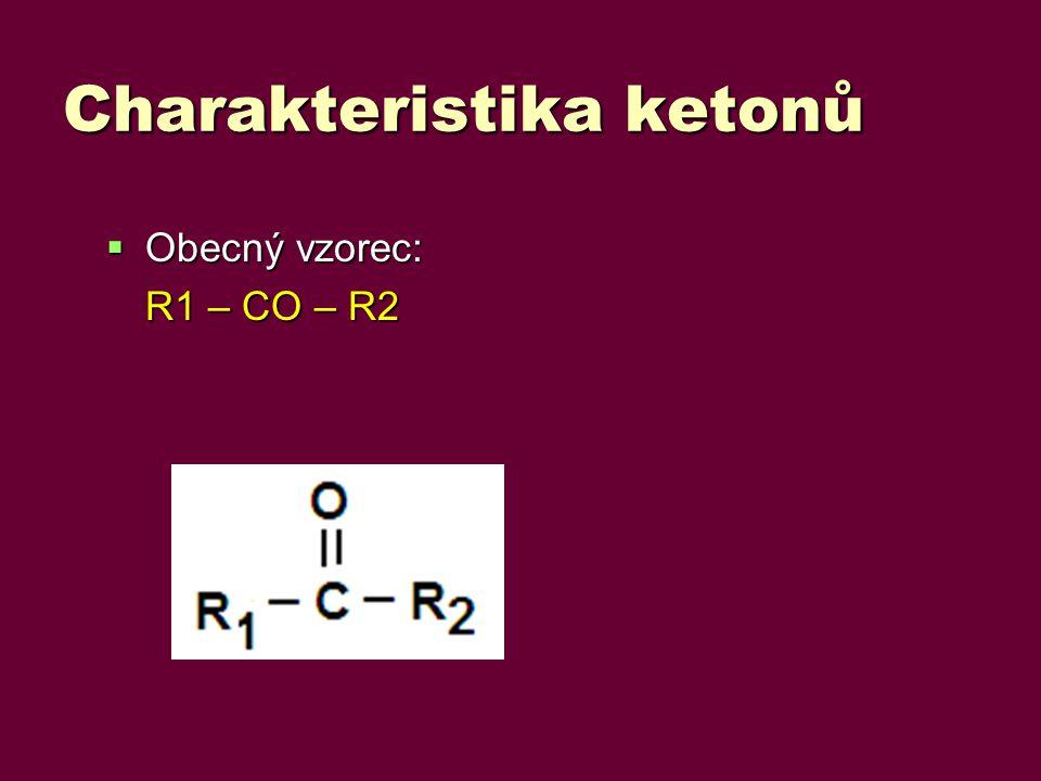 Charakteristika ketonů