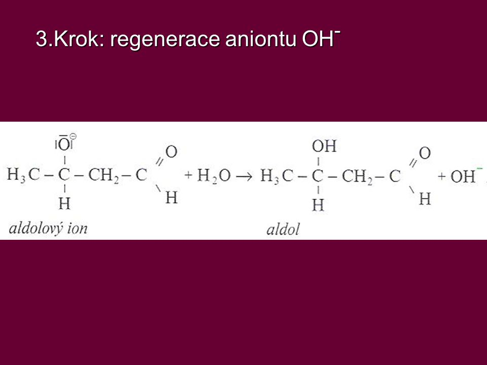 3.Krok: regenerace aniontu OH-