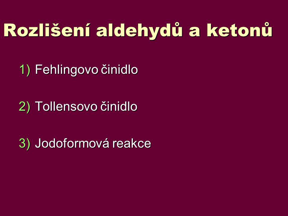 Rozlišení aldehydů a ketonů