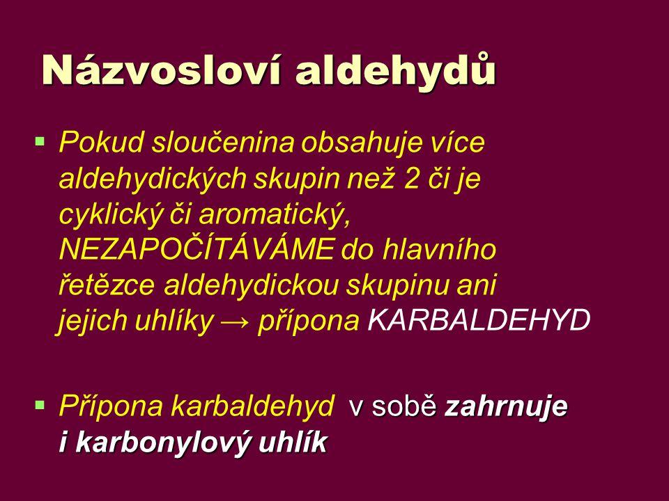 Názvosloví aldehydů