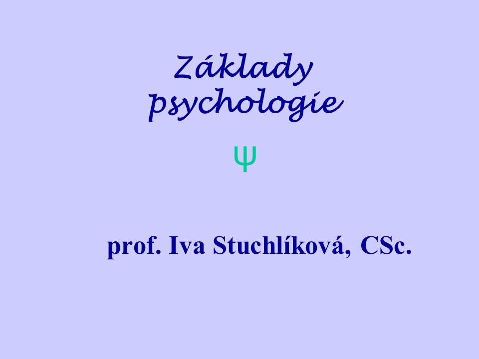 prof. Iva Stuchlíková, CSc.
