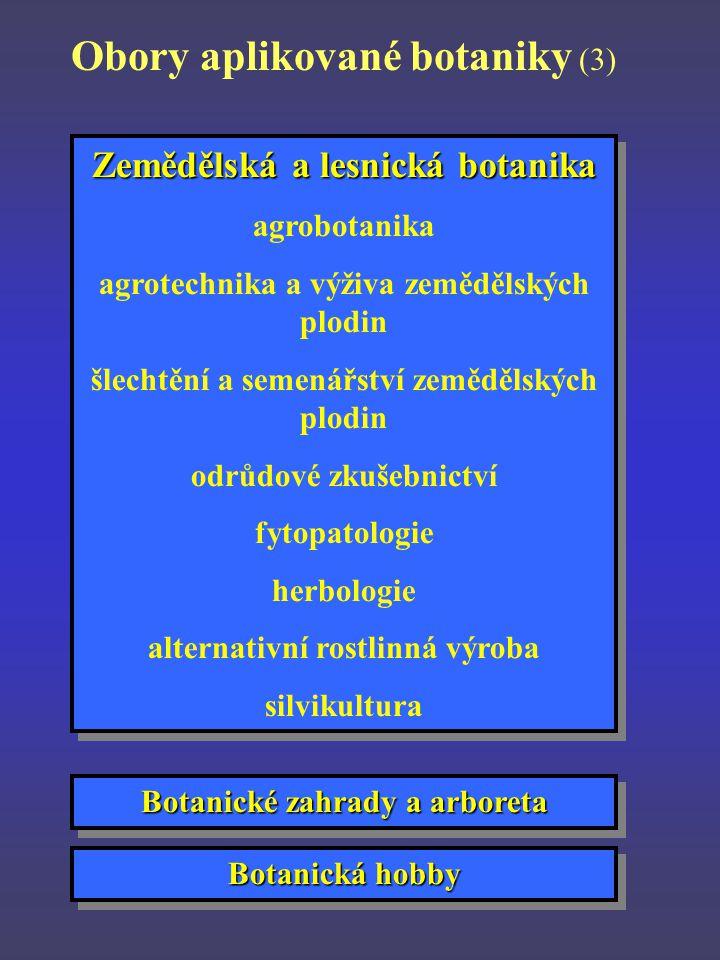 Obory aplikované botaniky (3)