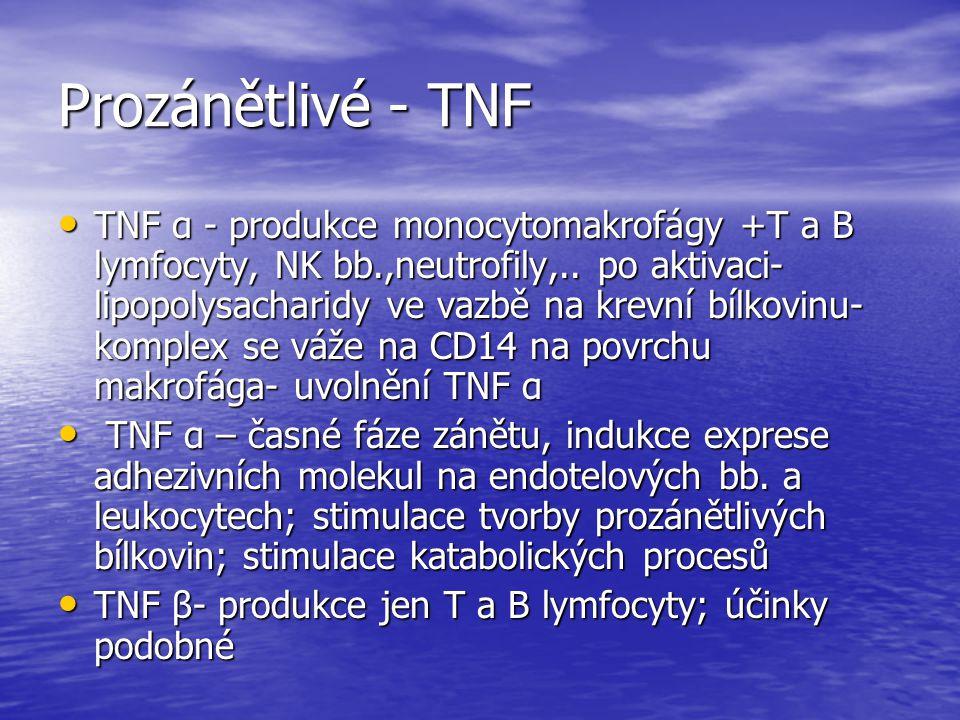 Prozánětlivé - TNF