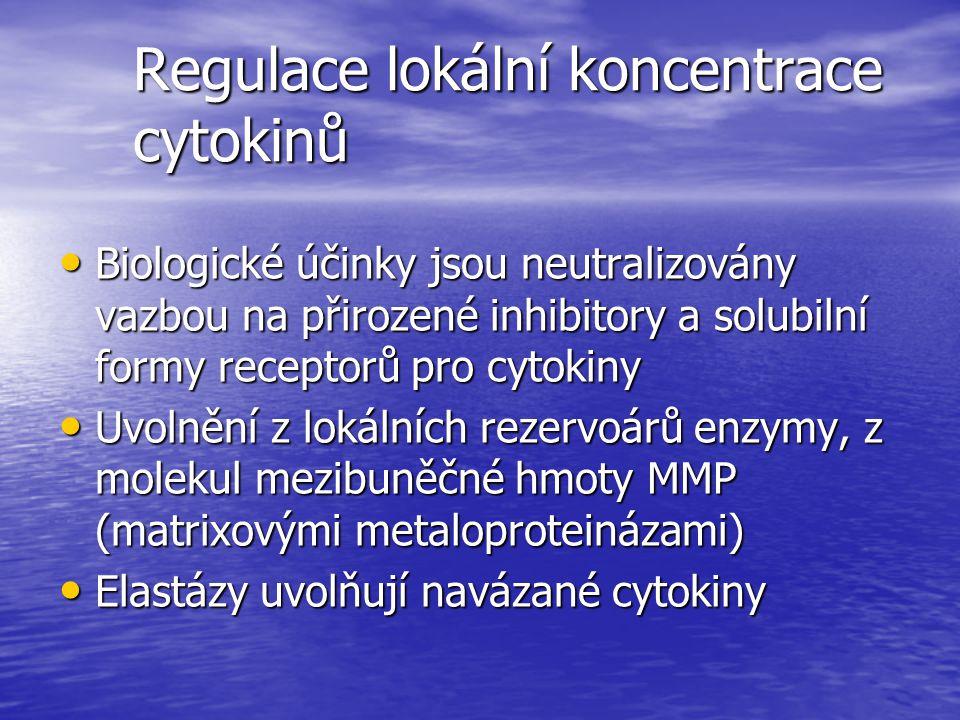 Regulace lokální koncentrace cytokinů