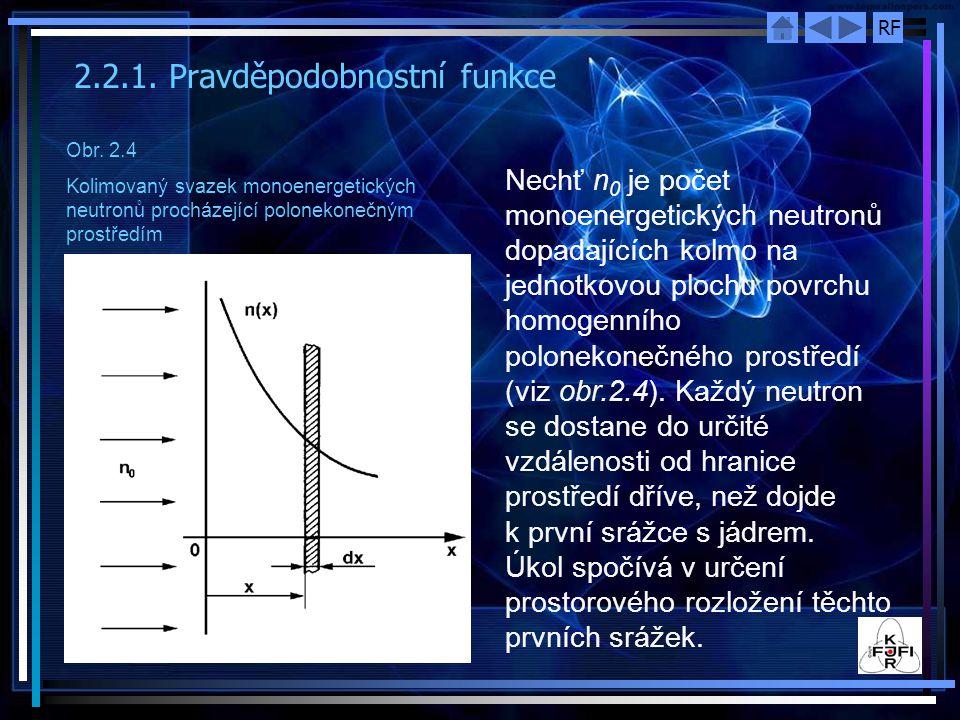 2.2.1. Pravděpodobnostní funkce