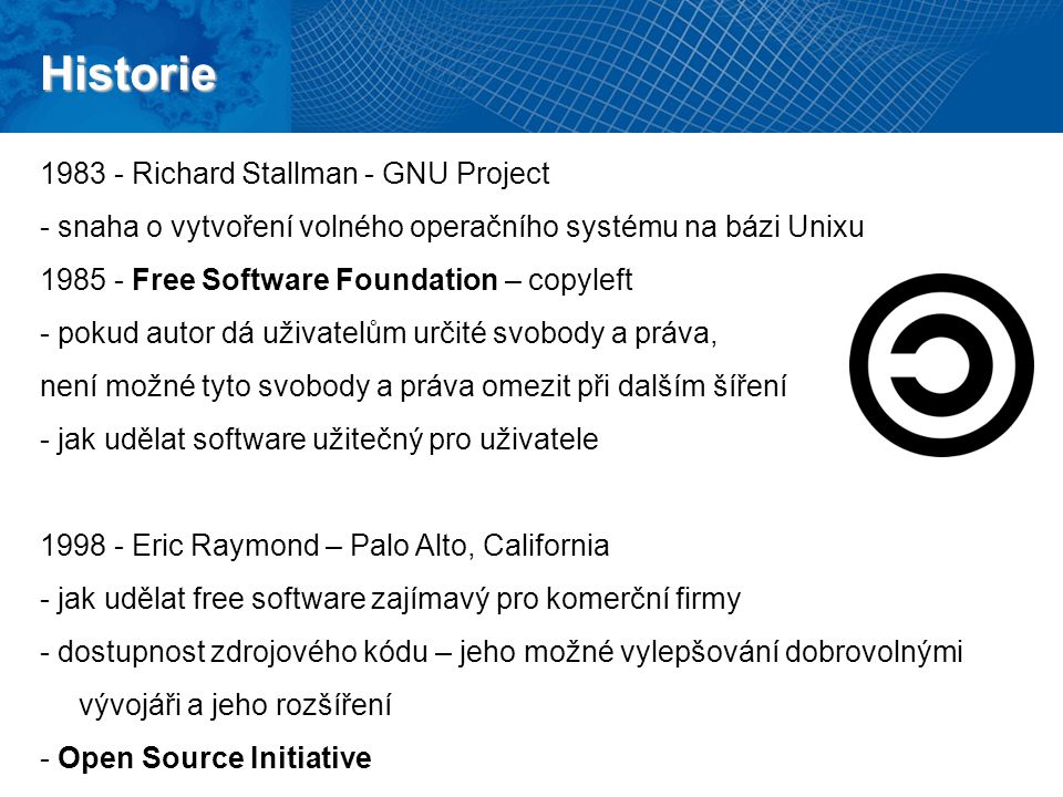 Historie 1983 - Richard Stallman - GNU Project