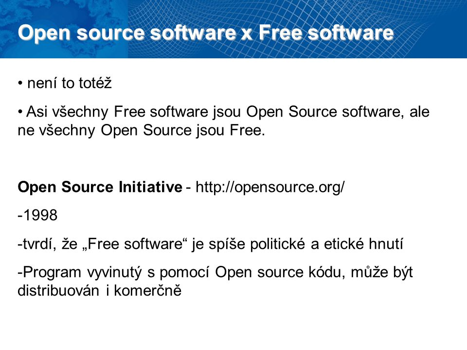 Open source software x Free software
