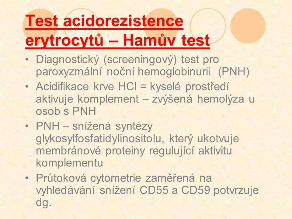 Test acidorezistence erytrocytů – Hamův test