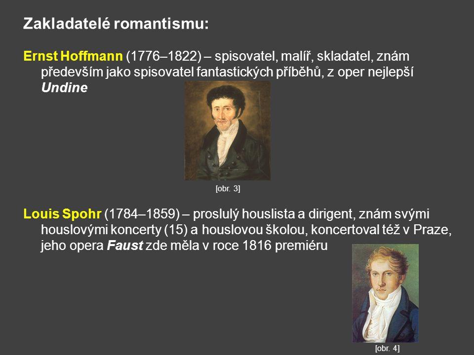 Zakladatelé romantismu: