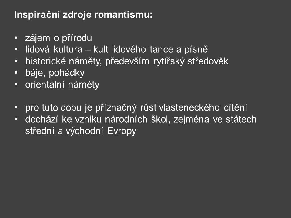 Inspirační zdroje romantismu: