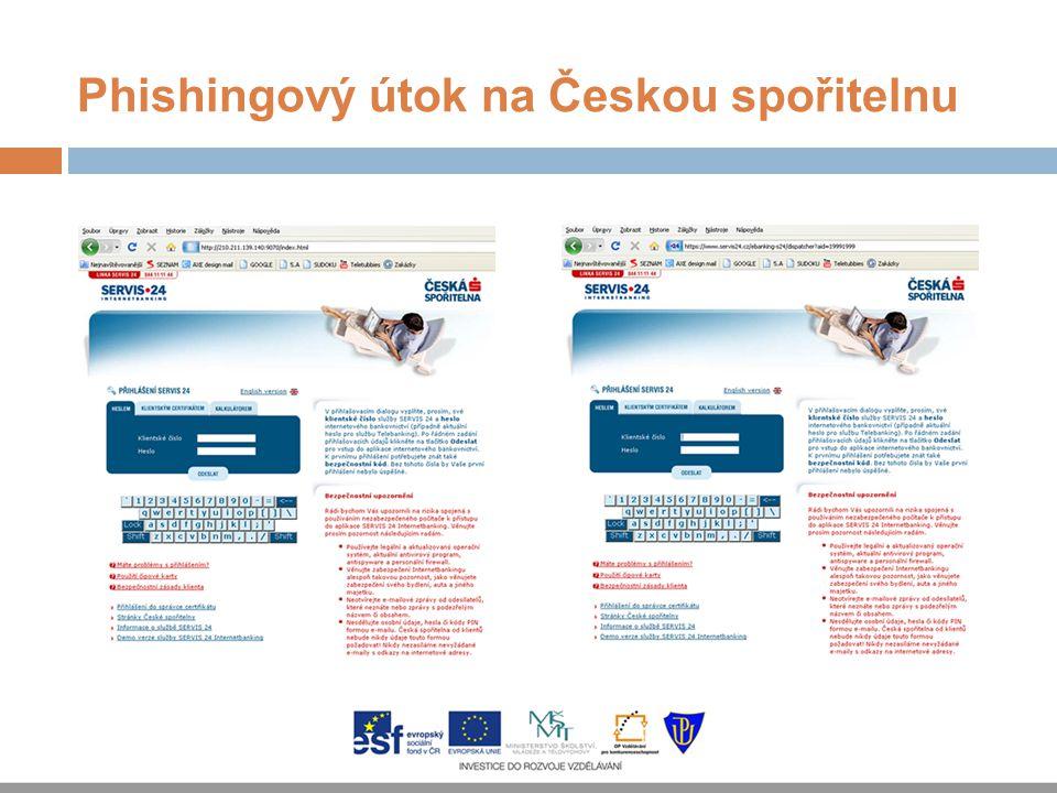 Phishingový útok na Českou spořitelnu