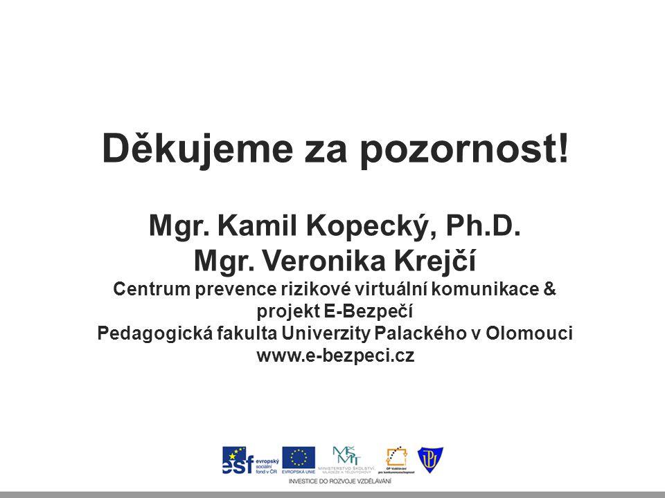 Děkujeme za pozornost! Mgr. Kamil Kopecký, Ph.D.