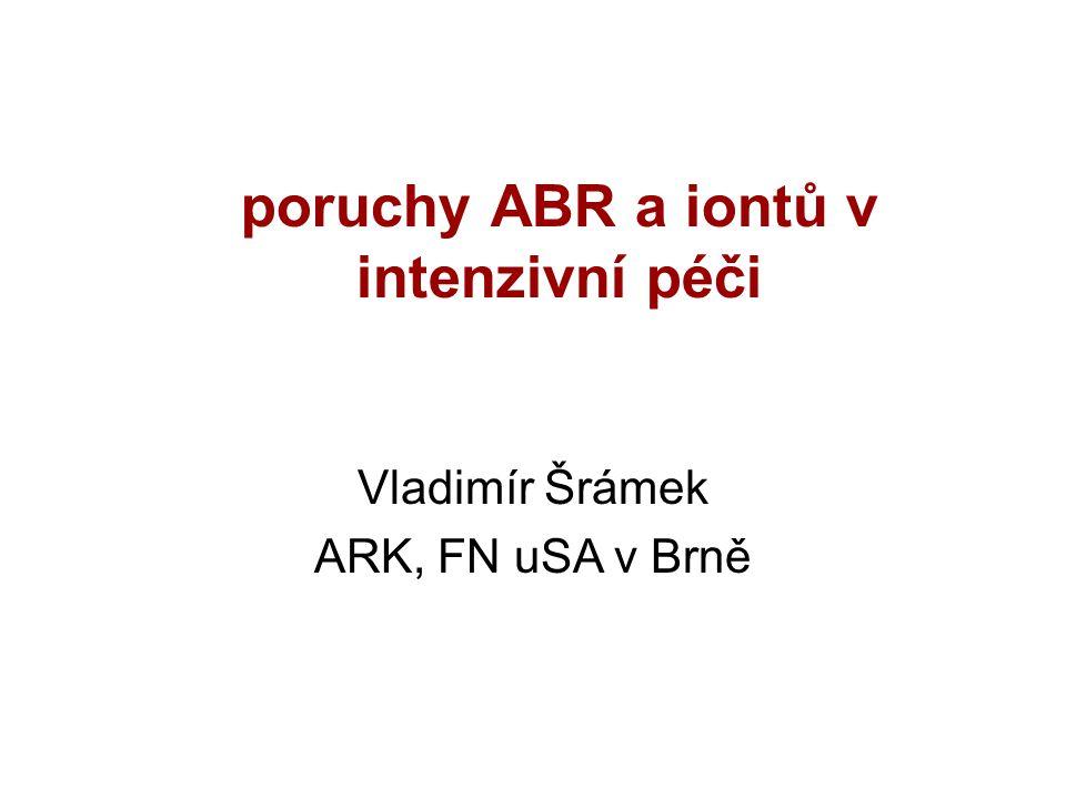 poruchy ABR a iontů v intenzivní péči