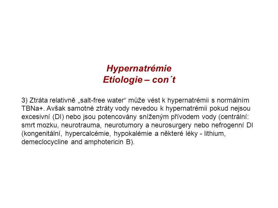 Hypernatrémie Etiologie – con´t