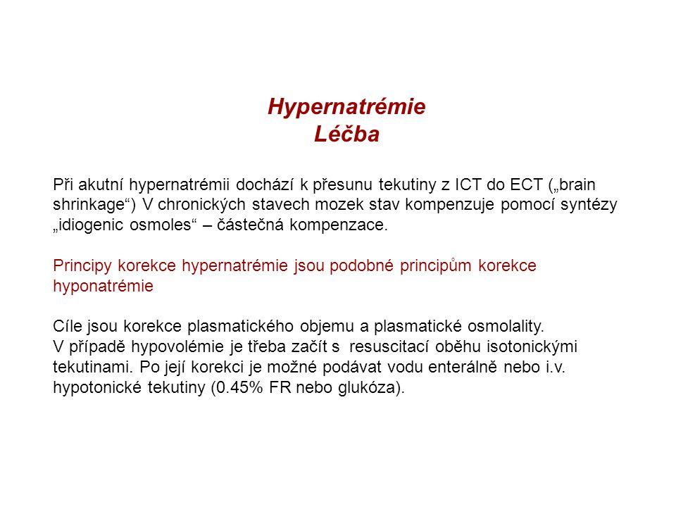 Hypernatrémie Léčba.